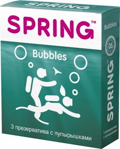 Презервативы Spring Bubbles с пупырышками 1 блок (12 уп)