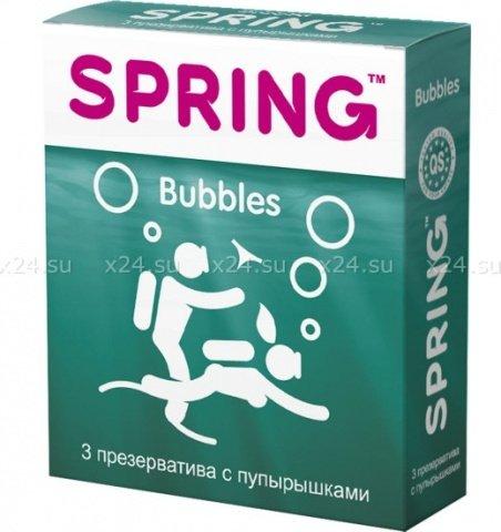 Презервативы spring bubbles - с пупырышками, шт