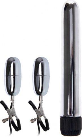 Вибратор и вибростимулятор для груди 17 см, фото 3