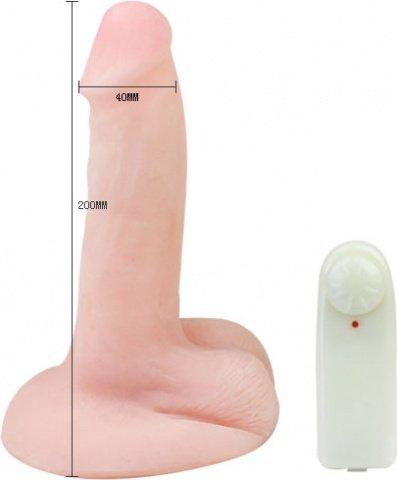 Вибратор с мошонкой 7,9 20 см, фото 2