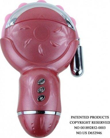 BI-014100 Rolling Fun, 12 видов вибраций, 6 видов ротаций, силикон, розовый, 70 х150 мм