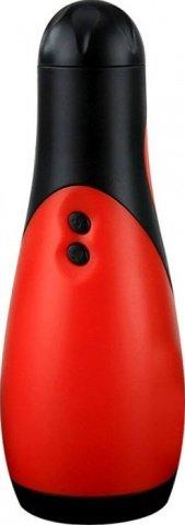 Массажер Oral Sex Lover, 30 видов вибрации, черно-красный, 80 х218 мм