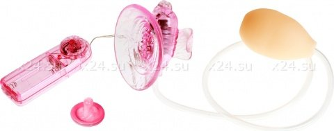 Стимулятор клитора с вакуумным массажом + бабочка с вибрацией