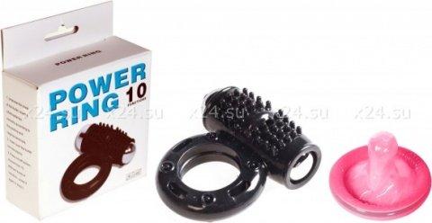 Эрекционное кольцо с клитораальным массажером Power Ring (10 режимов), фото 2