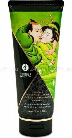 Массажный крем для тела Груша и экзотический зеленый чай серии Необыкновенные поцелуи