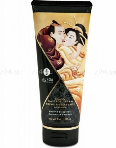 Съедобный массажный крем для тела Massage Cream (миндальная сладость)