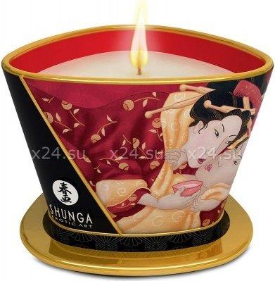 Массажное арома масло в виде свечи, Sparrkling Strawberry WineКлубничное вино 170 МЛ, фото 2