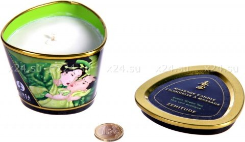 Массажное арома масло в виде свечи, Exotic Green Tea Зеленый чай 170 МЛ