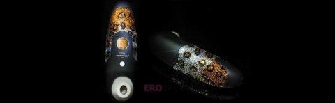 Стимулятор клитора Womanizer Leopard с кристаллами Сваровски, фото 5