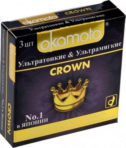 Презервативы Окамото Crown Ультратонкие и ультрамягкие 3/24, фото 2