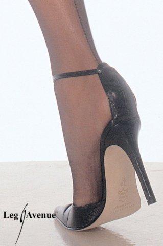 Чулочки с поясом, цвет Черный, размер One Size, фото 2