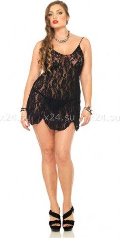 Кружевная сорочка Leg Avenue, , цвет Черный