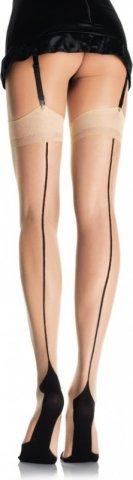Классические чулочки со швом Leg Avenue, цвет Черный, фото 2
