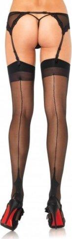 Классические чулочки со швом Leg Avenue, цвет Черный, фото 3