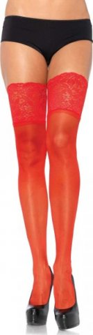 Чулки с широкой резинкой Size, цвет Красный, размер One Size, фото 2