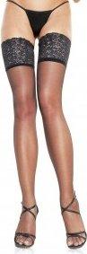 Чулочки с широкой кружевной каймой Leg Avenue, размер XXL
