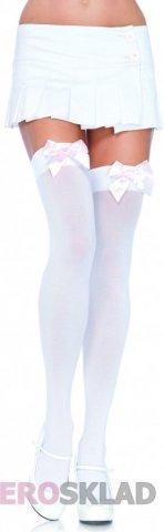 Чулочки с бантиком с красным бантом с белым бантом с красным бантом с розовым бантом, цвет Белый с красным бантом, фото 11