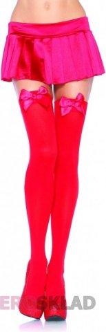 Чулочки с бантиком с красным бантом с белым бантом с красным бантом с розовым бантом, цвет Белый с красным бантом, фото 5