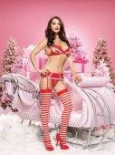 Новогодний комплект белья, размер | Новый год | Секс-шоп Мир Оргазма