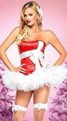 Красный корсет с белым бантом | Корсеты, грации | Интернет секс шоп Мир Оргазма