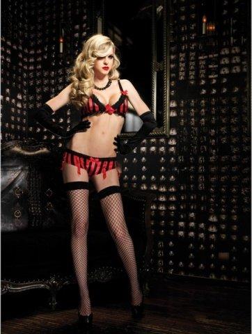 Секси комплект цвет Черно-красный, размер L