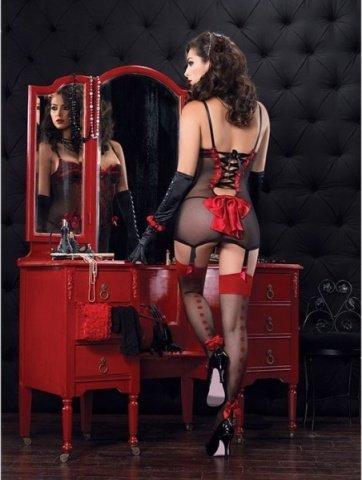 Платье с пажами и стринги A86319- red, фото 3