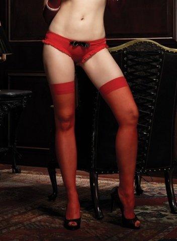 Игривые трусики с бахромой Leg Avenue, цвет Красный, размер M/L