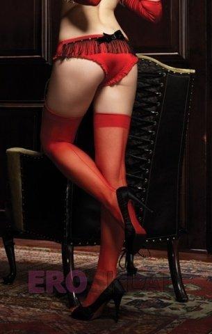 Игривые трусики с бахромой Leg Avenue, цвет Красный, размер M/L, фото 2