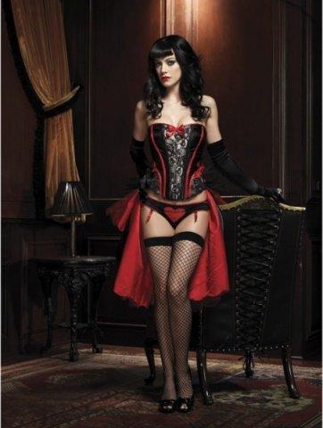 Изысканная юбка-турнюр, цвет Красно-черный