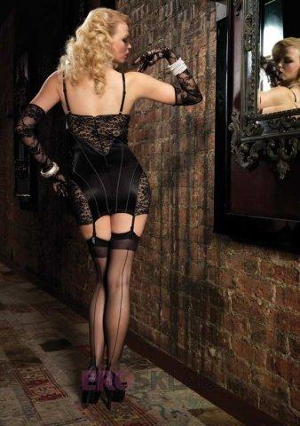 Роскошное платье с кружевной отделкой цвет Черный, размер S, фото 2