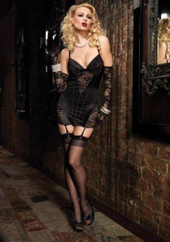 Роскошное платье с кружевной отделкой цвет Черный, размер M