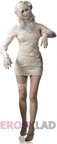 Карнавальный костюм Мумия цвет Белый, размер M/L, фото 2