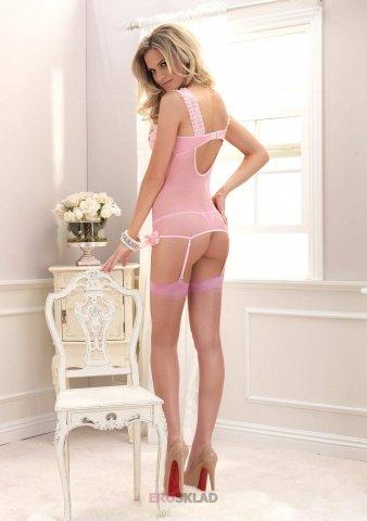 Роскошный комплект цвет Розовый, размер L, фото 2