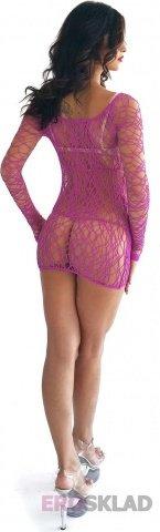 Ажурное платье Long Sleeved Leg Avenue, цвет Лиловый, фото 2