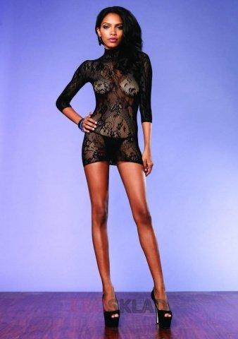Откровенное мини-платье, цвет Черный