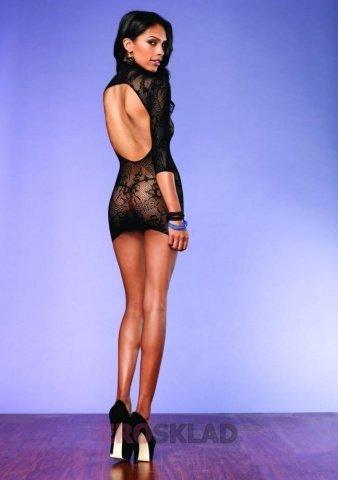 Откровенное мини-платье, цвет Черный, фото 2