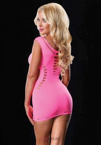 Эротическое мини-платье Leg Avenue, цвет Розовый, размер One Size, фото 2