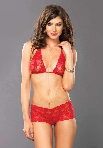 Очаровательный комплект Leg Avenue, цвет Красный, размер M/L