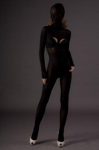 Бдсм-боди с капюшоном (leg avenue), цвет черный, размер one size
