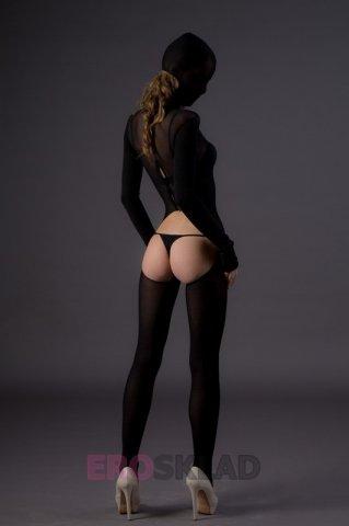 Бдсм-боди с капюшоном (leg avenue), цвет черный, размер one size, фото 3
