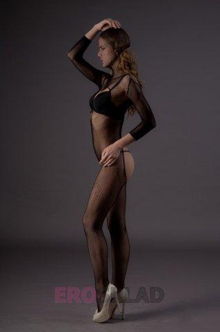 Чулок-сетка на все тело, с вырезами (Leg Avenue), цвет Черный, размер One Size, фото 2