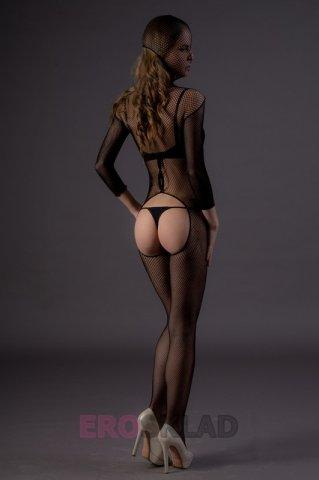 Чулок-сетка на все тело, с вырезами (Leg Avenue), цвет Черный, размер One Size, фото 3