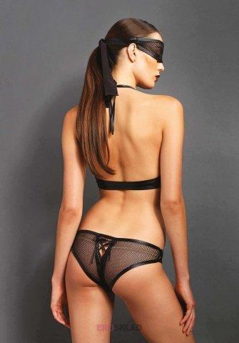Эротическое боди с маской цвет Черный, размер M/L, фото 2
