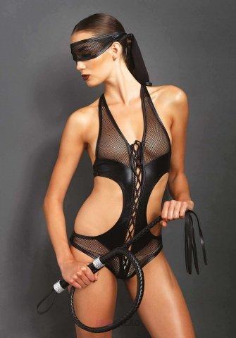 Эротическое боди с маской цвет Черный, размер M/L, фото 3