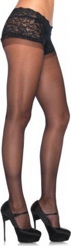Матовые колготки с кружевным верхом Leg Avenue, цвет Черный, размер One Size