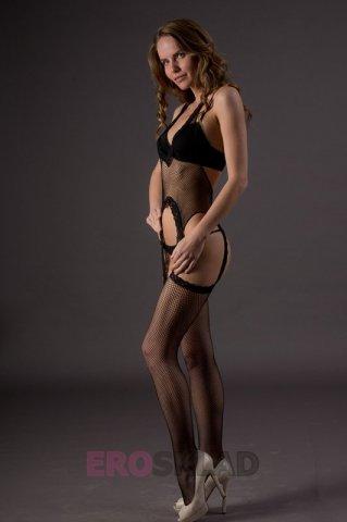 Боди с чулочками - Suspender Bodystockings (Leg Avenue), цвет Черный, размер One Size, фото 3