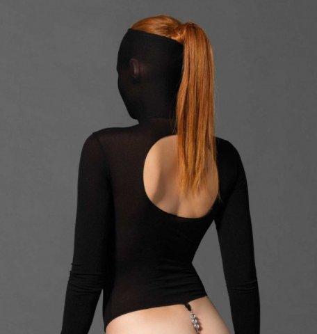 Бдсм-тедди с маской - leg avenue, цвет черный, размер one size, фото 2