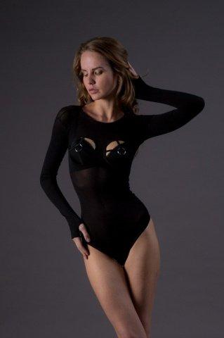 Тедди с открытой грудью - Leg Avenue, цвет Черный, размер One Size