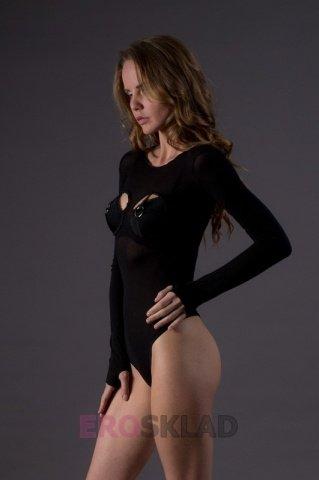 Тедди с открытой грудью - Leg Avenue, цвет Черный, размер One Size, фото 2