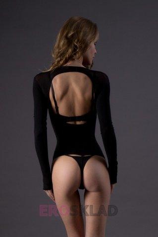 Тедди с открытой грудью - Leg Avenue, цвет Черный, размер One Size, фото 3